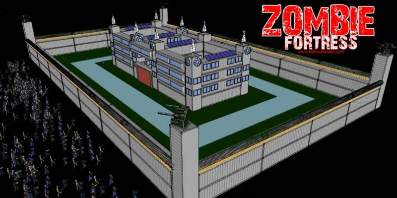Zombie fortress off grid world for Zombie build