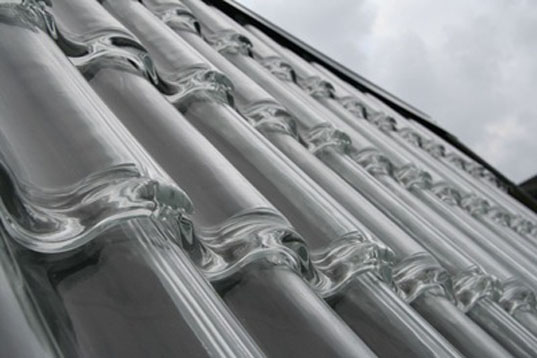 Beautiful Glass Roofing Tiles Can Heat Your Home