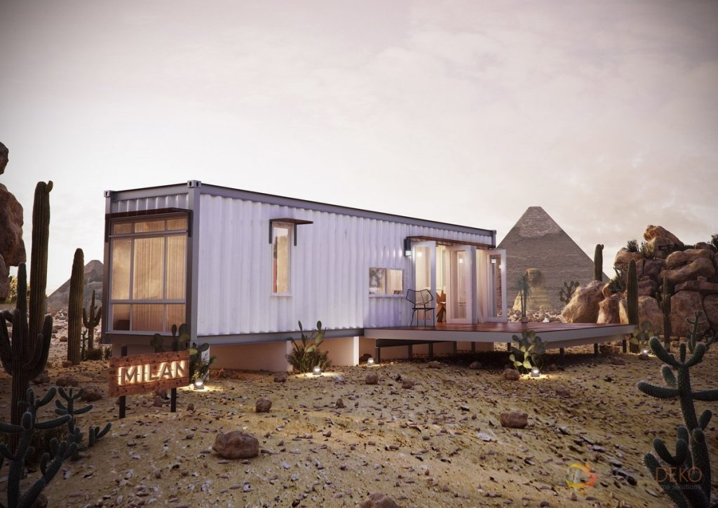 Heavy metal getting in on the shipping container home for Shipping container pier foundation